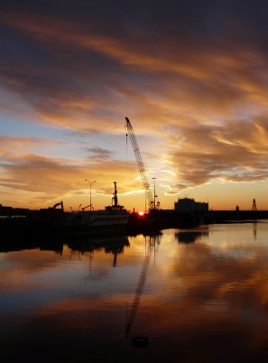 Work at Wick harbour, 12th March, by Alan Hendry
